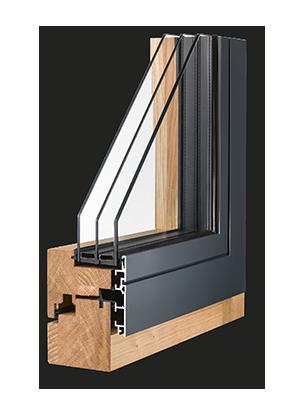 designo_10: Holz-Aluminium-Fenster.